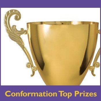 Conformation top prize button for the shop.