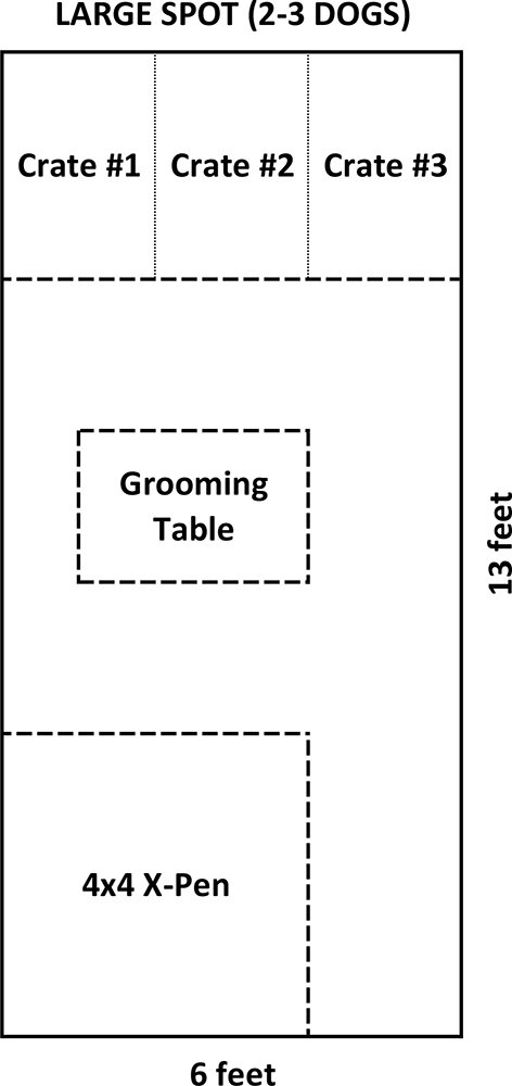 Large Grooming Space 6x13 1